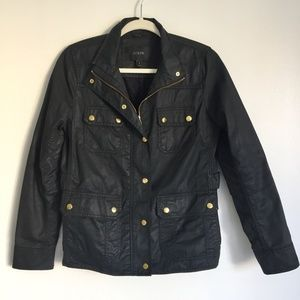 J CREW Downtown Field Jacket - Black - Size S